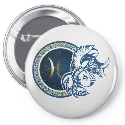 Horoscope Pisces Pin-back Button Designed By Estore