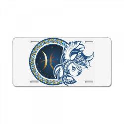 Horoscope pisces License Plate   Artistshot