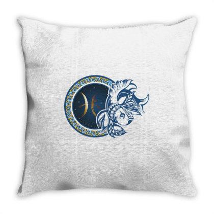 Horoscope Pisces Throw Pillow Designed By Estore