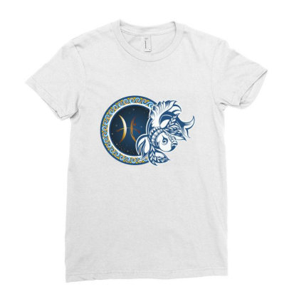 Horoscope Pisces Ladies Fitted T-shirt Designed By Estore