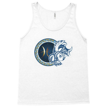 Horoscope Pisces Tank Top Designed By Estore
