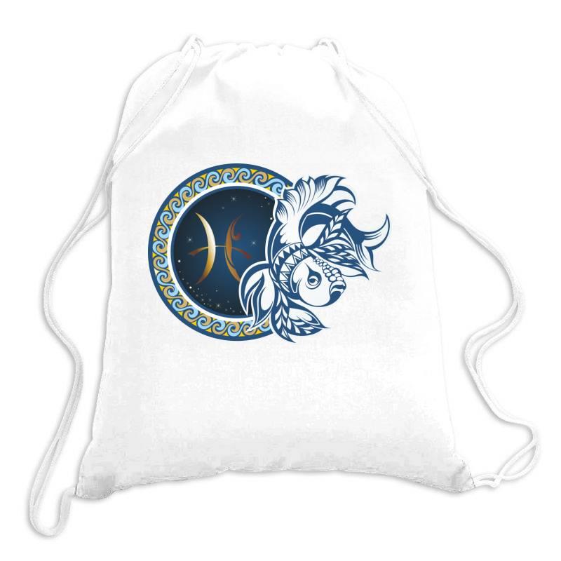 Horoscope Pisces Drawstring Bags   Artistshot