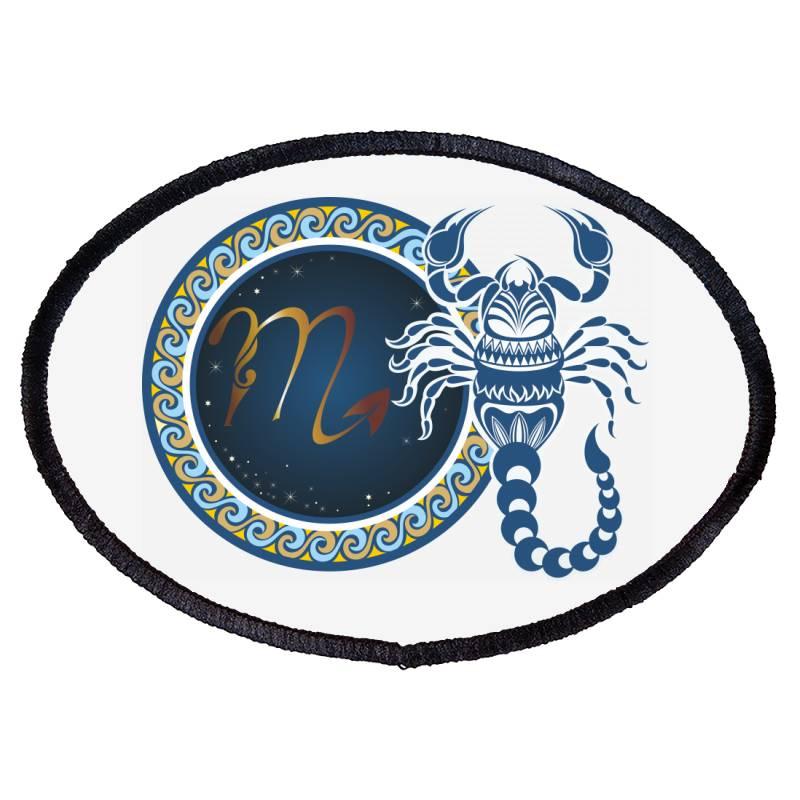 Horoscope Scorpio Oval Patch | Artistshot