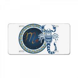 Horoscope scorpio License Plate | Artistshot
