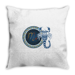 Horoscope scorpio Throw Pillow | Artistshot