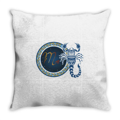 Horoscope Scorpio Throw Pillow Designed By Estore
