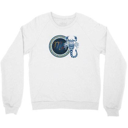 Horoscope Scorpio Crewneck Sweatshirt Designed By Estore