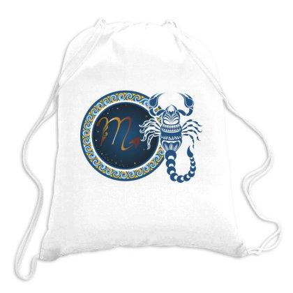 Horoscope Scorpio Drawstring Bags Designed By Estore