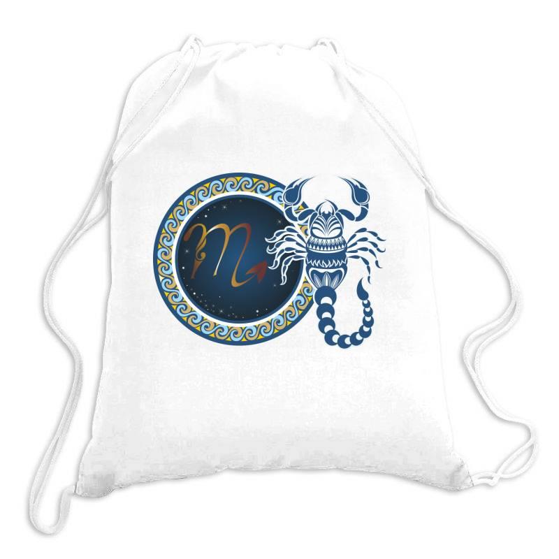 Horoscope Scorpio Drawstring Bags | Artistshot