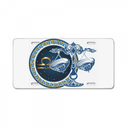 Horoscope libra License Plate | Artistshot