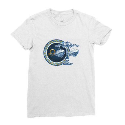 Horoscope Libra Ladies Fitted T-shirt Designed By Estore