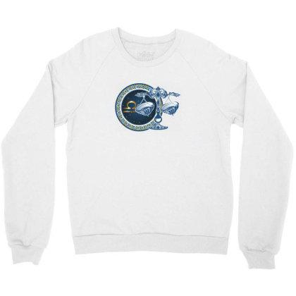 Horoscope Libra Crewneck Sweatshirt Designed By Estore