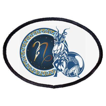 Horoscope Capricorn Oval Patch Designed By Estore