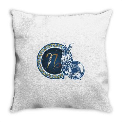 Horoscope Capricorn Throw Pillow Designed By Estore