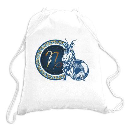 Horoscope Capricorn Drawstring Bags Designed By Estore