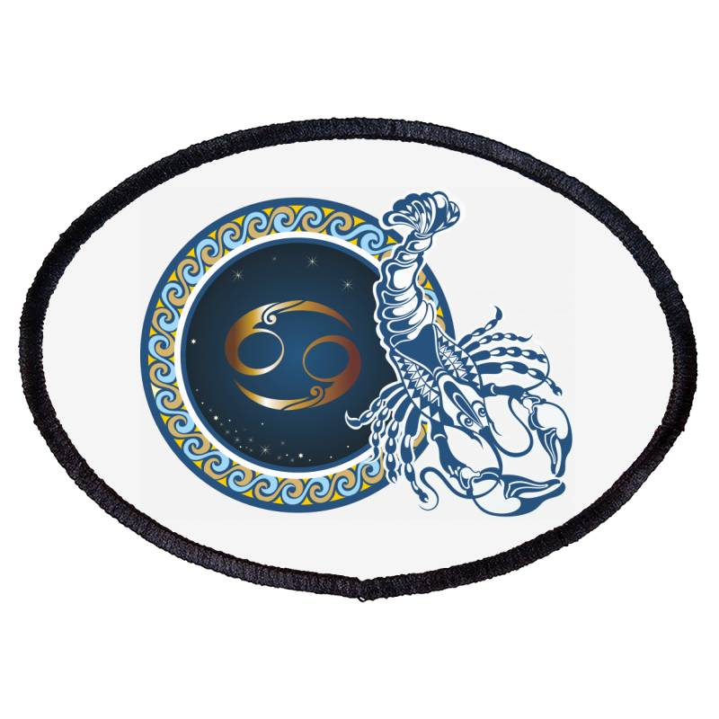 Horoscope Cancer Oval Patch | Artistshot