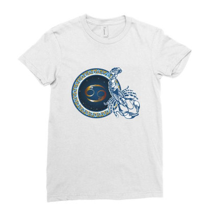 Horoscope Cancer Ladies Fitted T-shirt Designed By Estore