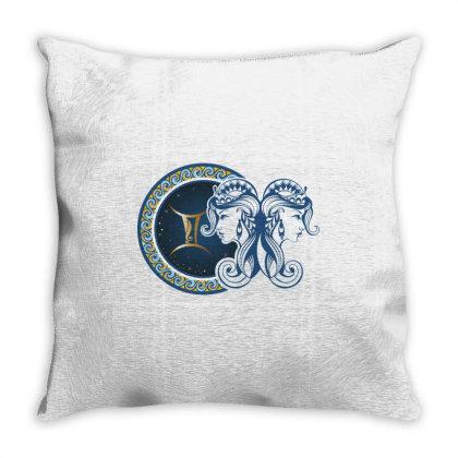Horoscope Gemini Throw Pillow Designed By Estore