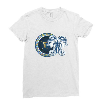 Horoscope Gemini Ladies Fitted T-shirt Designed By Estore