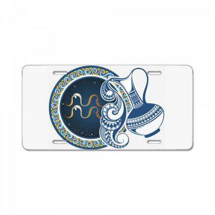 Horoscope Aquarius License Plate Designed By Estore