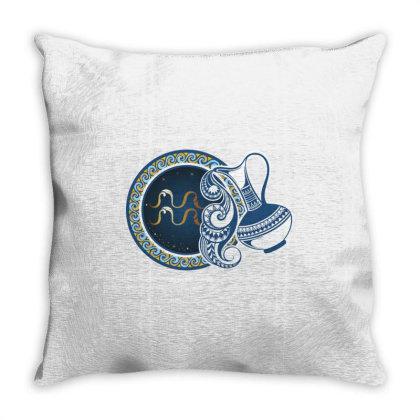 Horoscope Aquarius Throw Pillow Designed By Estore