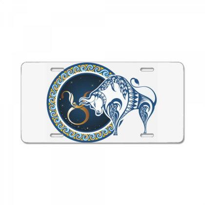 Horoscope Taurus License Plate Designed By Estore