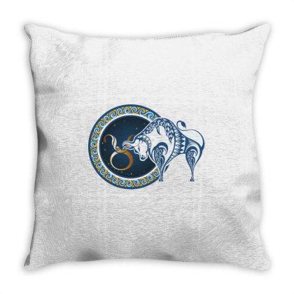 Horoscope Taurus Throw Pillow Designed By Estore