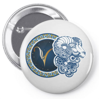 Horoscope Aries Pin-back Button Designed By Estore
