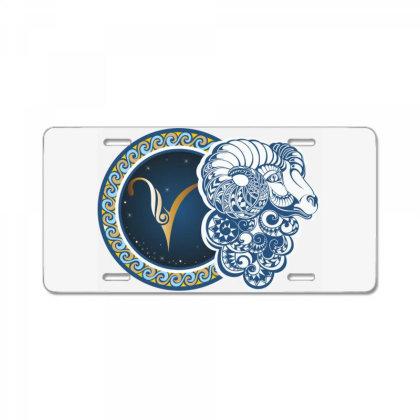 Horoscope Aries License Plate Designed By Estore