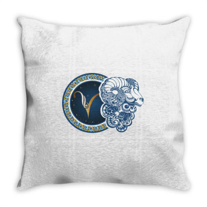 Horoscope Aries Throw Pillow Designed By Estore