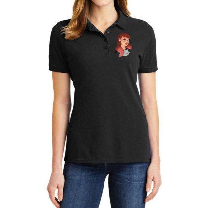 Punk Girl Ladies Polo Shirt Designed By Adesignerlife