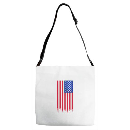 American Flag And The Blood Of Freedom Adjustable Strap Totes Designed By Alamy