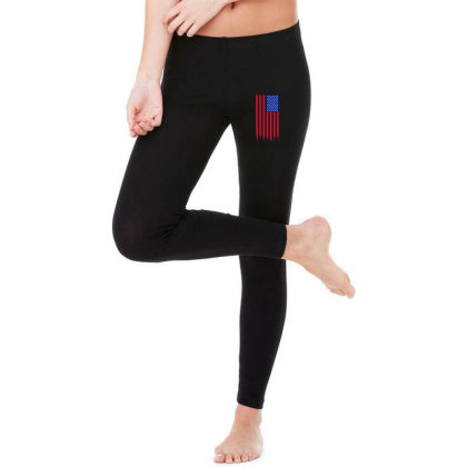 American Flag And The Blood Of Freedom Legging Designed By Alamy