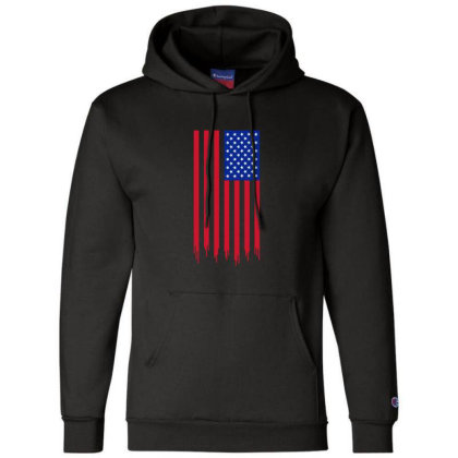 American Flag And The Blood Of Freedom Champion Hoodie Designed By Alamy