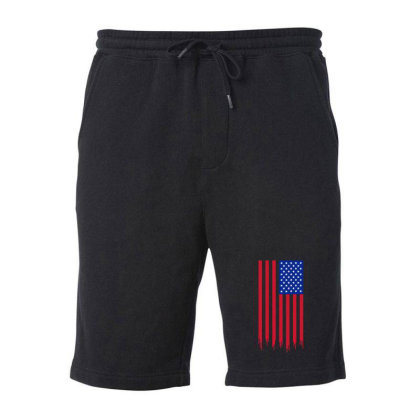 American Flag And The Blood Of Freedom Fleece Short Designed By Alamy