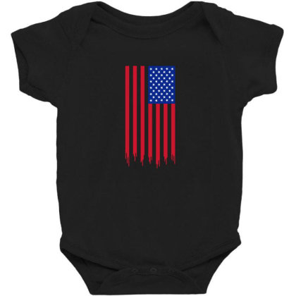 American Flag And The Blood Of Freedom Baby Bodysuit Designed By Alamy