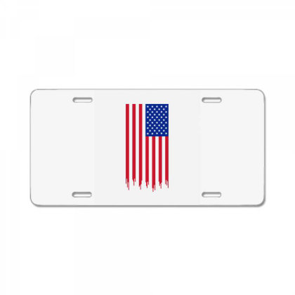 American Flag And The Blood Of Freedom License Plate Designed By Alamy