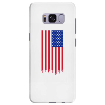 American Flag And The Blood Of Freedom Samsung Galaxy S8 Plus Case Designed By Alamy