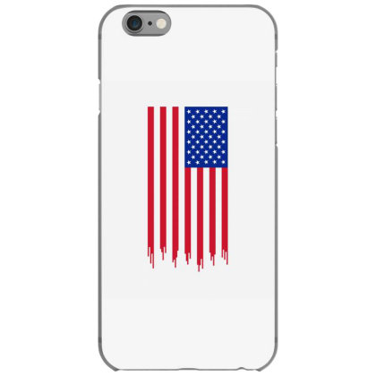 American Flag And The Blood Of Freedom Iphone 6/6s Case Designed By Alamy