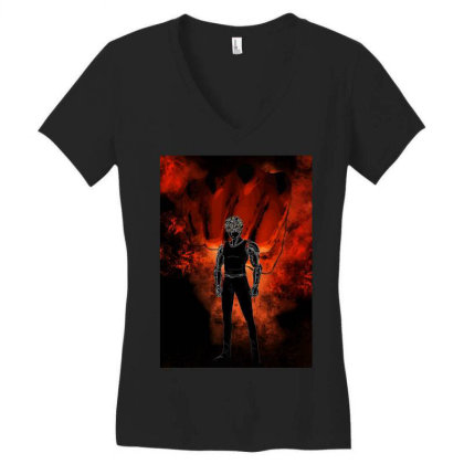 Cyborg Awakening Women's V-neck T-shirt Designed By Ryukrabit