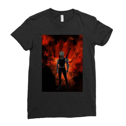 Cyborg Awakening Ladies Fitted T-shirt Designed By Ryukrabit