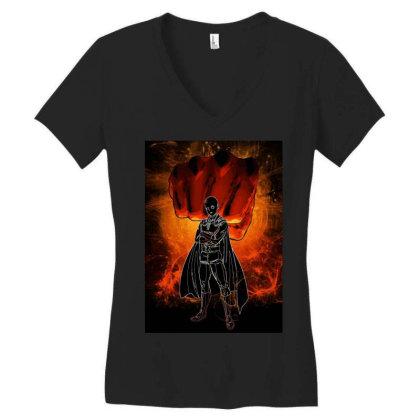 One Punch Awakening Women's V-neck T-shirt Designed By Ryukrabit