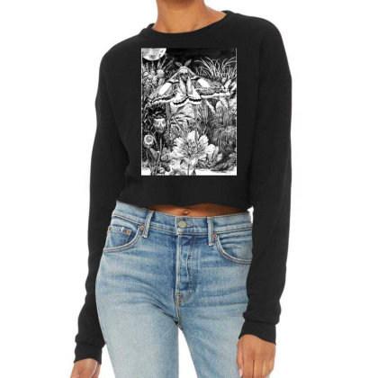 Death Moth Cropped Sweater Designed By The Real Kurosan