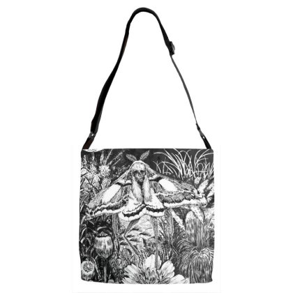 Death Moth Adjustable Strap Totes Designed By The Real Kurosan