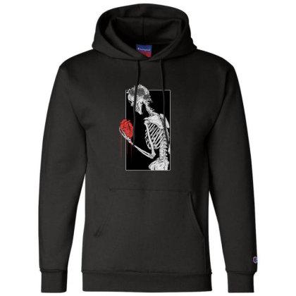 Skeleton Heart Lover Champion Hoodie Designed By Jessadamscreates