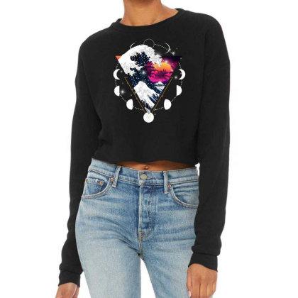 Kanagawa Oki Nami Cropped Sweater Designed By Badaudesign