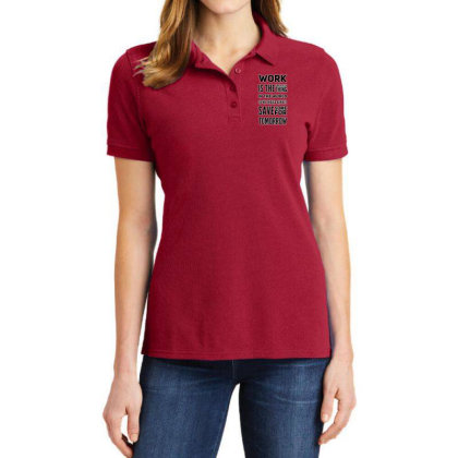 Work Is Greatest Thing Ladies Polo Shirt Designed By Samkal