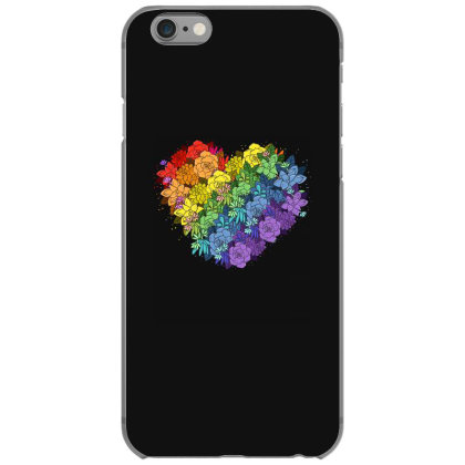 Floral Lgbt Heart Iphone 6/6s Case Designed By Badaudesign