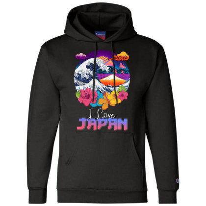 I Love Japan Champion Hoodie Designed By Badaudesign