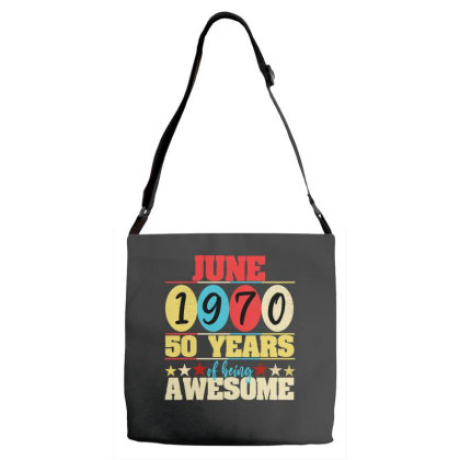 June 1970 50 Years Of Being Awesome Adjustable Strap Totes Designed By Ashlıcar